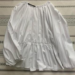 ZARA - ZARA ブラウス ホワイト 新品未使用!