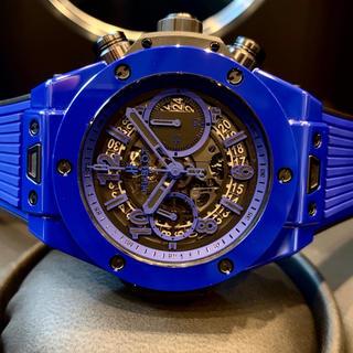 ウブロ(HUBLOT)の本物 新品 予備ベルト付 HUBLOT ウブロ ビッグバンウニコ ブルーマジック(腕時計(アナログ))