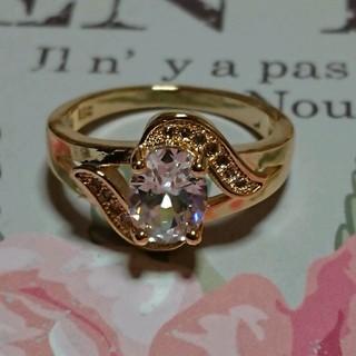 キュービックダイアモンドゴールドカラーリング(リング(指輪))
