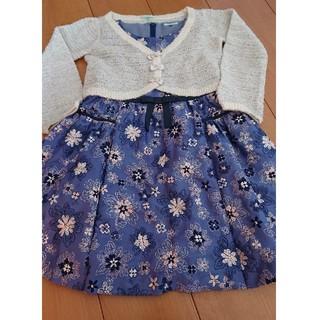 トッカ(TOCCA)のTOCCA 120 総刺繍 ドレス ワンピース 美品 110(ドレス/フォーマル)