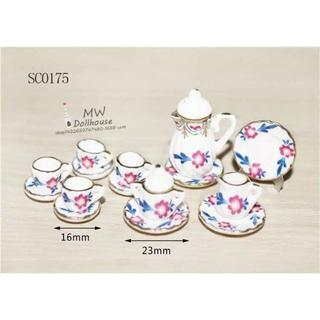 SC0175 ミニチュア食器シリーズ 花柄(ミニチュア)
