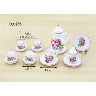 SC0155 ミニチュア食器シリーズ 花柄(ミニチュア)