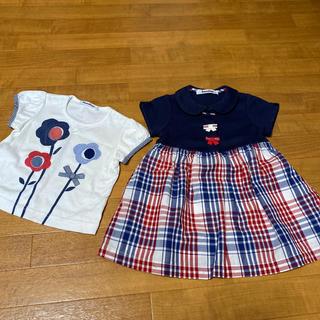 ファミリア ワンピースとTシャツ 80