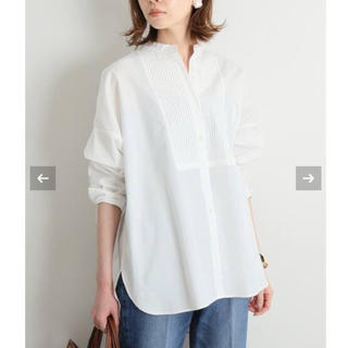 IENA - 【新品タグ付】IENA 100/2 コットンピンタックシャツ サイズ36