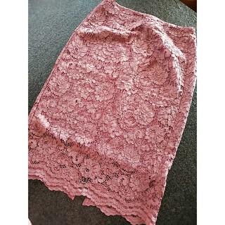 GU - GU レースタイトスカート くすみピンク Mサイズ