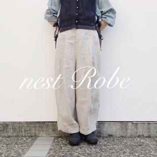 nest Robe - * nest Robe * 2018  リネン ファティーグパンツ
