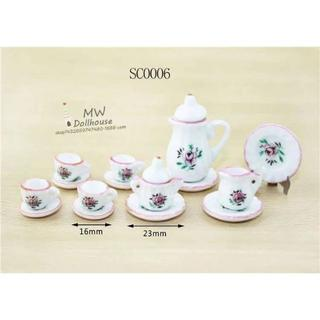 ミニチュア食器 sc0006 花柄(ミニチュア)