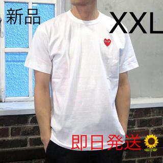 COMME des GARCONS - 入手困難 XXLサイズ プレイコムデギャルソン 半袖 Tシャツ ホワイト