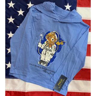 ポロラルフローレン(POLO RALPH LAUREN)の★POLO BEAR ★ラルフローレンポロベアフーデッドTシャツ3T/100(Tシャツ/カットソー)