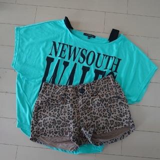 しまむら - しまむらTシャツ&デニムセット150