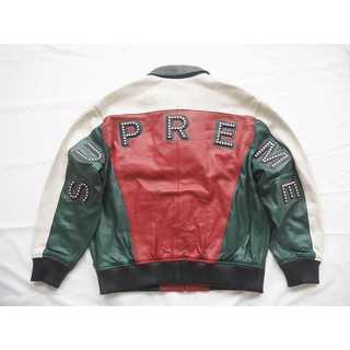 Supreme Studded Arc Logo Leather Jacket (レザージャケット)
