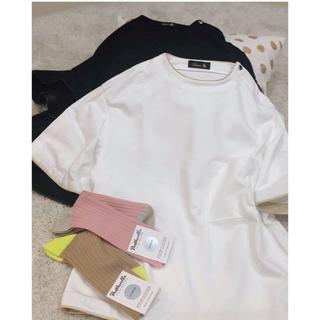 Drawer - 今期 ドゥロワー  半袖 Tシャツ ホワイト 36 白 トップス ブラウス