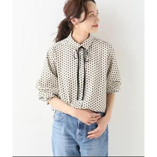 IENA - 【19SS◆美品◆リボンタイ ドットシャツ IENA⭐️】