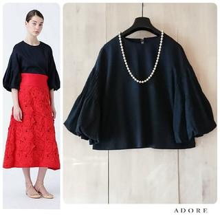 ADORE - ◆幻◆春物美品 定価3.3万円 ADORE ドライレーヨンストレッチブラウス