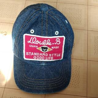 ミキハウス(mikihouse)のミキハウス ダブルB 帽子 キャップ 48 デニム(帽子)