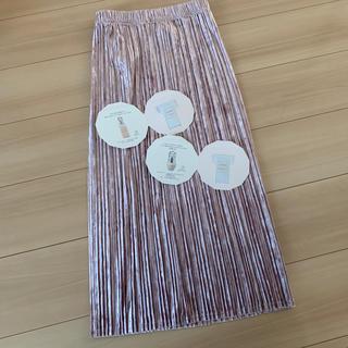 GU - GU ベロアプリーツ スカート