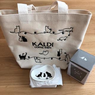 カルディ(KALDI)のエリザベス様専用☆カルディ ネコの日バッグ プレミアム(トートバッグ)