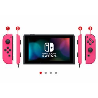 Nintendo Switch - 新型ニンテンドースイッチ switch 本体 ネオンピンクカスタマイズ