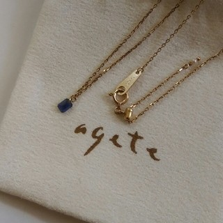 agete - agate K10ネックレス