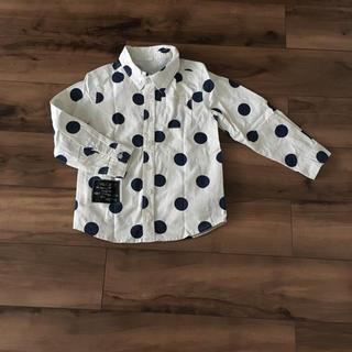 西松屋 - ドット シャツ 130