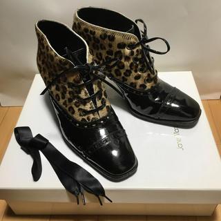 JaneMarple - 美品 Jane Marple ジェーンマープル レオパード ブーツ ブーティ