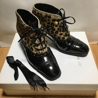 ジェーンマープル(JaneMarple)の【美品】Jane Marple ジェーンマープル レオパード ブーツ(ブーツ)