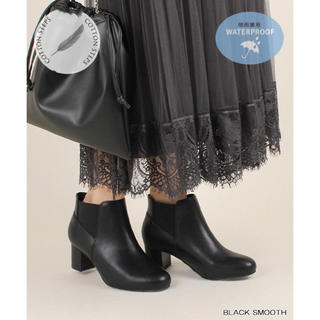 RANDA - ランダ RANDA ストレスフリー/サイドゴアショートブーツ BLK