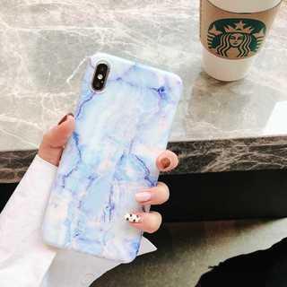 IP003 大理石 マーブル iPhoneケース ブルー XSMax