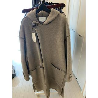 SUNSEA - YOKE 7G Milano Rib Hooded Coat