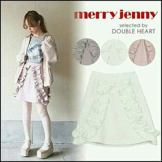 メリージェニー(merry jenny)の新品 メリージェ二ー★フリルミニスカート(ひざ丈スカート)