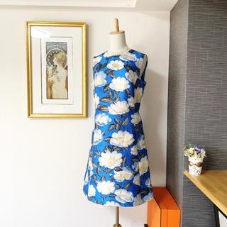 DOLCE&GABBANA - 美品 ドルチェ&ガッバーナ ドルガバ  お刺繍 ワンピース ドレス シルク