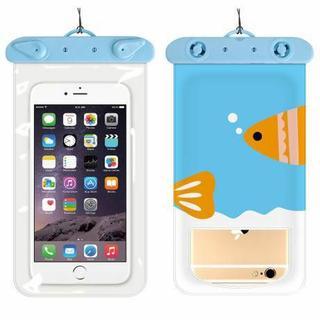 スマホ防水ケース 防水カバー iPhoneケース おさかな(PC周辺機器)