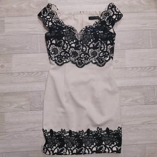 ROBE - Robe de fleurs glossy ドレス ミニドレス キャバ