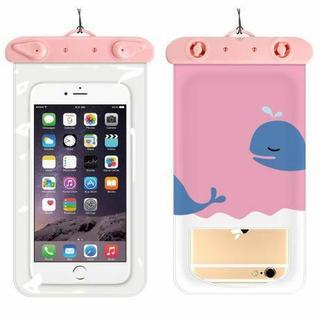 スマホ防水ケース 防水カバー iPhoneケース クジラ(PC周辺機器)