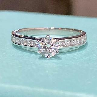 Tiffany & Co. - ティファニー 正規品 チャネル セット ダイヤモンド バンド ソリティア リング