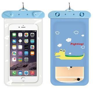スマホ防水ケース 防水カバー iPhoneケース ワニ(PC周辺機器)