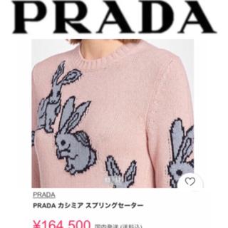 PRADA カシミヤスプリングセーター ニット うさぎ ウサギ ラビット バニー(ニット/セーター)