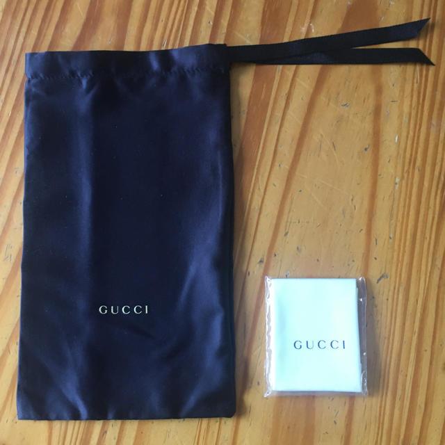 Gucci - 巾着とめがねふき《GUCCI》の通販