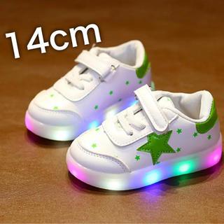 光る靴 子供靴 スニーカー LDE キッズ 男女兼用 星