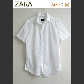 ZARA - 【美品】ZARA ストレッチ半袖シャツ  ブラウス