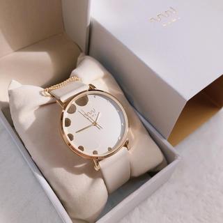 【試着のみ・美品】腕時計 NUWL MISTY DOT NUDEBEIGE