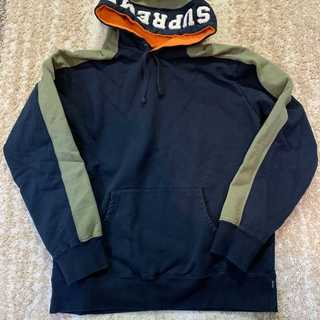Supreme - Supreme Paneled Hooded Sweatshirt紺色XL
