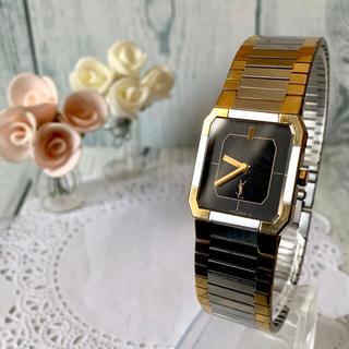 サンローラン(Saint Laurent)の【電池交換済み】Yves Saint Laurent  腕時計 スクエア(腕時計(アナログ))