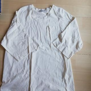 ウィゴー(WEGO)の白 ロングTシャツ(Tシャツ(長袖/七分))