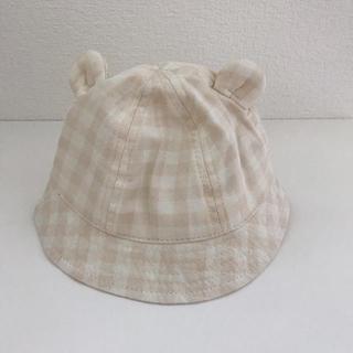 西松屋 - 【新品タグ付】ベビー 帽子 46cm チェック