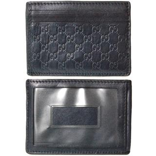 Gucci - GUCCI グッチ マイクロシマ  パスケース カードケース