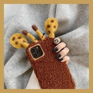 キリンさん モコモコ iphoneケース(iPhoneケース)