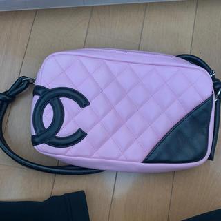 シャネル(CHANEL)のCHANEL バック  めちゃくちゃ美品ピンク カーボンライン(ハンドバッグ)