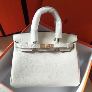 Hermes - 2013AWクレハンドバッグ30トリヨンオフホワイトトートバッグBKタイプ