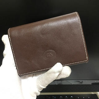 本革牛革 メンズ レディース 折り財布(折り財布)